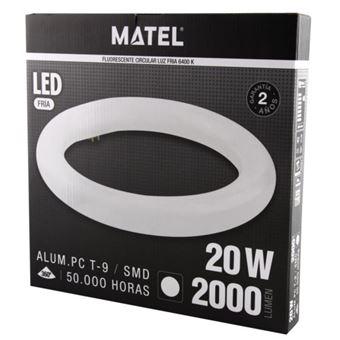 Tubo fluorescente LED t9 circular 30cm 20w fria