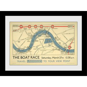 Fotografia enmarcada Transport For London The Boat Race 60x80cm