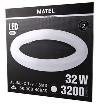 Tubo fluorescente LED t9 circular 40cm 32w fria