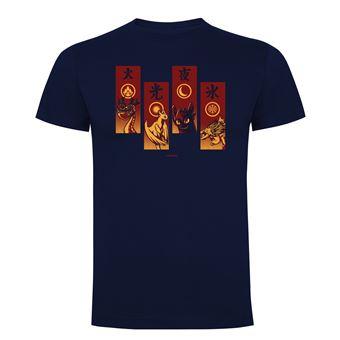 Camiseta manga corta Friking, Modelo 682 Como Entrenar a tu Dragón, elements dragon, Talla L, Navy