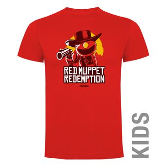 Camiseta manga corta Friking, Modelo 988 Red Muppet Redemption Talla 10 años, Rojo