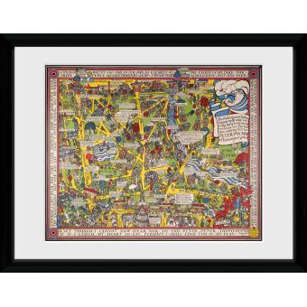 Fotografia enmarcada Transport For London Mapa 2 60x80cm