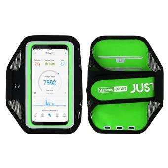Funda móvil para correr Smartphones 5,8 pulgadas Impermeable de Baseus, Verde