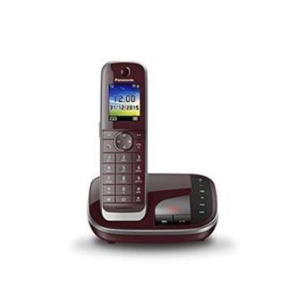 Panasonic KX-TGJ320 - Teléfono (DECT, 40 min, Polifónico, Rojo, Escritorio, Digital)