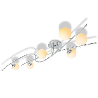 Lámpara de techo vidaXL, 6 bombillas LED G9 240 W