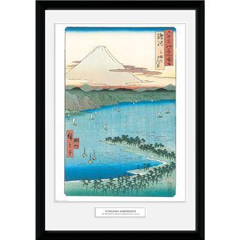 Fotografía Enmarcada Hiroshige The Pine Beach At Miho