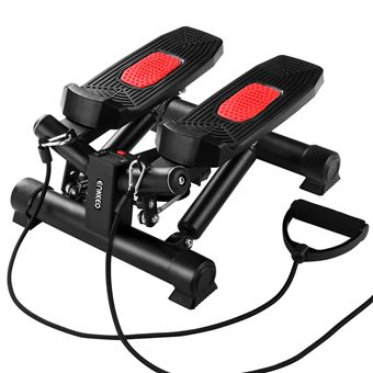 Bicicleta Estática Enkeeo JY-8208  Mini Stepper con Bandas de Resistencia y LED Pantalla