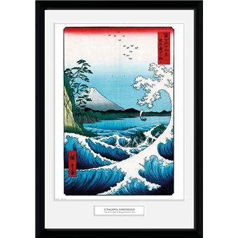 Fotografía Enmarcada Hiroshige El mar frente a Satta
