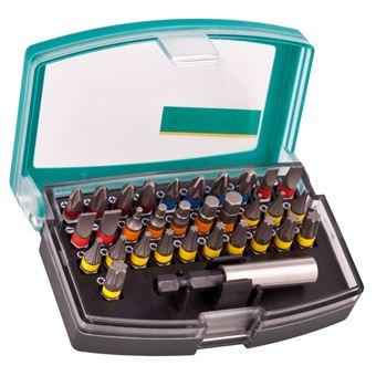 Caja de 31 puntas Wolfcraft Solid, con portapuntas magnético - 2975000