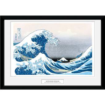 Fotografía Enmarcada Hokusai Gran Ola Kaganawa