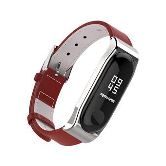 Correa de piel para brazalete Xiaomi Mi Band 3, Rojo