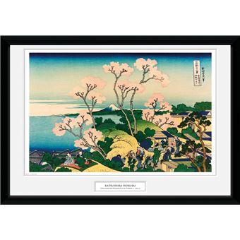 Fotografía Enmarcada Hokusai Goten Yama Hill