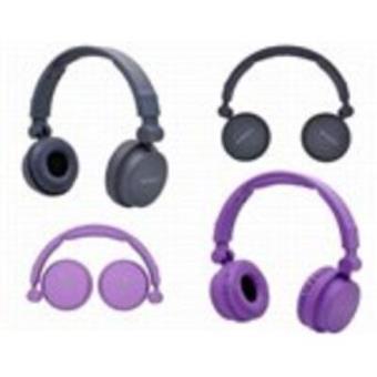 Auriculares Sunstech Hpdj850pl Arco Plegable Violeta