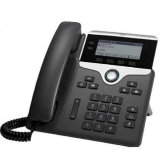 Cisco - 7811 1líneas led Wired Handset Negro, Plata