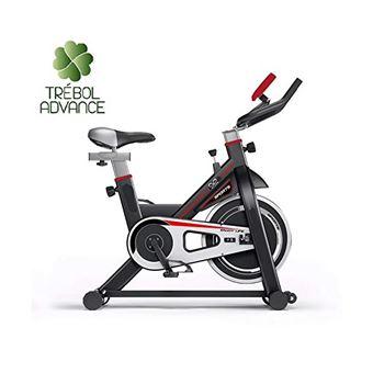 Bicicleta de spinning con volante de inercia de 13 kg roja