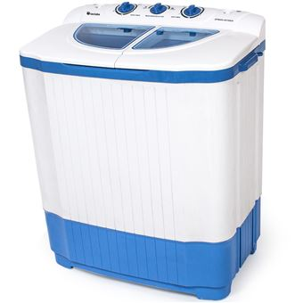 Mini lavadora 4, 5 kg con centrifugadora 3, 5 kg, Blanco