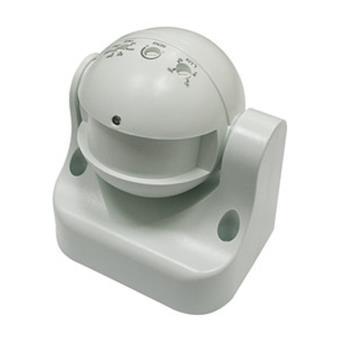 Detector de movimiento por microondas Electro DH, con cabezal orientable, tecnología pasiva, 180º, funciona con 3 hilos,  60.252/RF/SUP