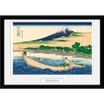 Fotografía Enmarcada Hokusai Orilla de la Bahía Tago