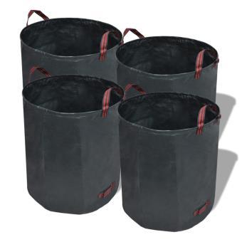 Bolsa de basura para jardín desplegables, 120 L, 4 unidades