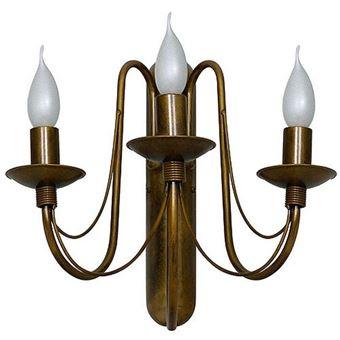 Lámpara de Pared Homemania Lilium Oro Cobre 49x40x33cm