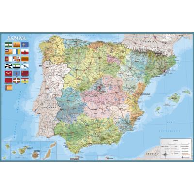 fnac mapa Poster Mapa España   Fisico Politico   Merchandising Posters   Fnac fnac mapa