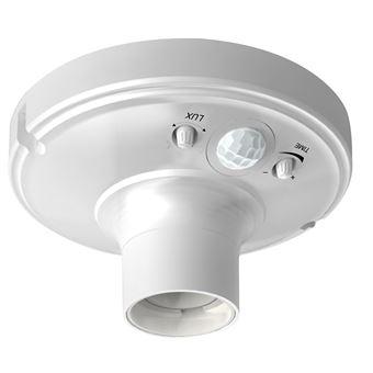 Detector de movimiento infrarrojos Garza Power con portalámparas casquillo E27 blanco