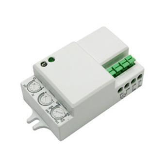Detector de movimiento mini Electro DH por microondas, funciona con 3 hilos, tecnología 5,8 GHz, 360º, protección IP20, 60.252/RF/MINI