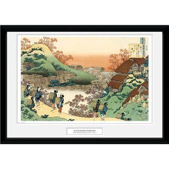 Fotografía Enmarcada Hokusai Mujeres regresando a casa
