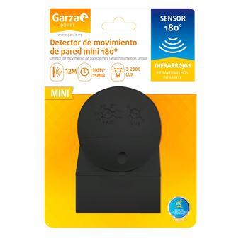 Detector de movimiento infrarrojo Garza Power mini de pared negro