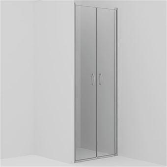 Puertas de ducha vidaXL claras ESG 80x185 cm