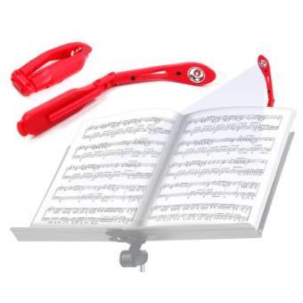 Luz LED Portátil Para Lectura De Partituras | En Color Rojo - Con Clip De Sujeción - Funciona Con Pilas Por DURAGADGET