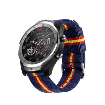 Pulsera de Nylon para Ticwatch Pro / S2 / E2 Colores Bandera de España Transpirable