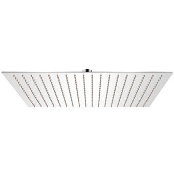 Cabezal de ducha cuadrado efecto lluvia acero inoxidable vidaXL, 50x50