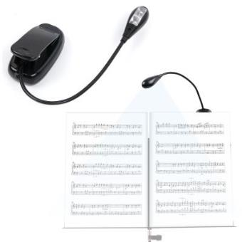 Lámpara Con Doble Luz LED Para Lectura De Partituras | Cuello De Cisne