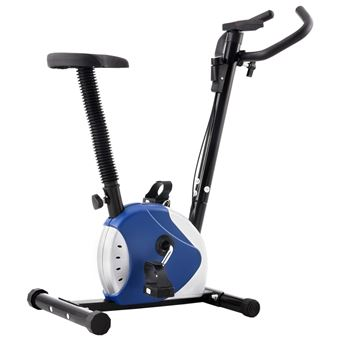 Bicicleta vidaXL estática con resistencia de cinta azul