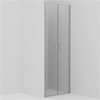 Puertas de ducha vidaXL claras ESG 90x180 cm