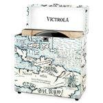 Caja de almacenamiento Victrola  de 30+ discos de vinilo-Color Retro map