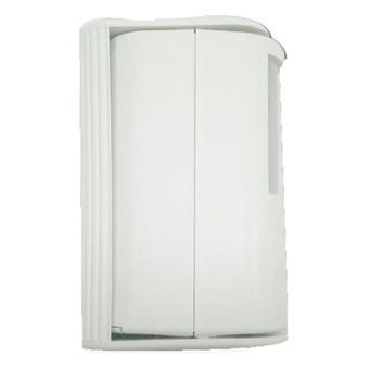 Detector de movimiento infrarrojos Garza Power con timbre y alarma blanco