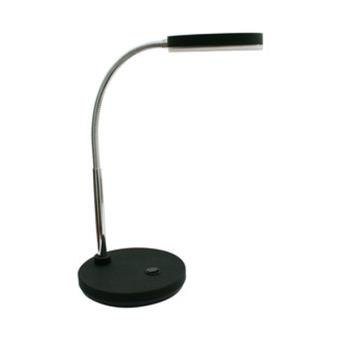 Lámpara LED de sobremesa con flexo color negro Electro DH, potencia 5 W, 350 lumens, ideal para casa u oficina, 82.055/N