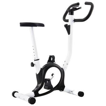 Bicicleta vidaXL estática con resistencia de cinta negra