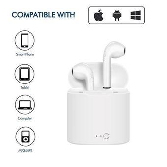 Casco sin hilos + Auriculares + Micrófono Ozzo, Blanco, para Xiaomi Redmi Note 3 Pro