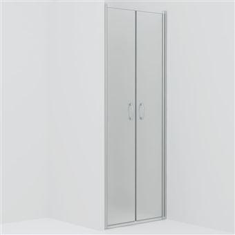 Puertas de ducha vidaXL ESG esmerilado 80x185 cm