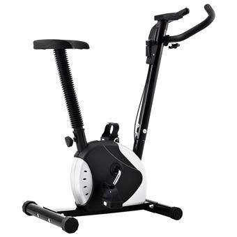 Bicicleta vidaXL estática con resistencia de cinta negro