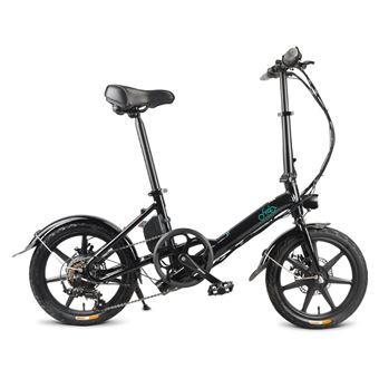 Bicicleta eléctrica Fiido D3S Rueda de 14 pulgadas 7.8Ah 36V 250W Velocidad variable, Negro