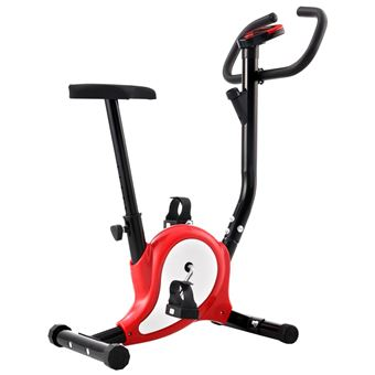 Bicicleta vidaXL estática con resistencia de cinta roja