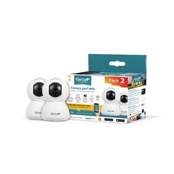 Pack de 2 Cámaras Wifi Inteligentes 360 para seguridad, HD 720p