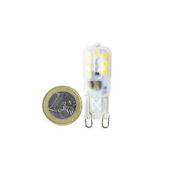 5x Bombilla LED G9 regulable 2.5W blanco 3000ºK calido Blister