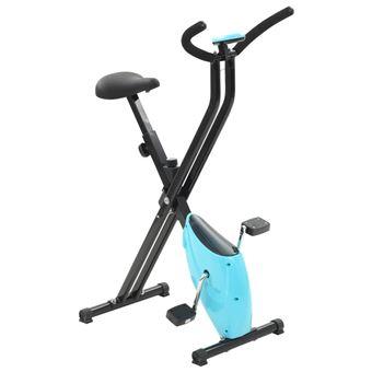 Bicicleta estática X-Bike resistencia de cinta azul, vidaXL