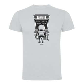 Camiseta manga corta Friking, Modelo 1023 Star Wars, Arcade trooper Talla S, Gris Perla
