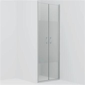 Puertas de ducha vidaXL ESG medio esmerilado 75x185 cm